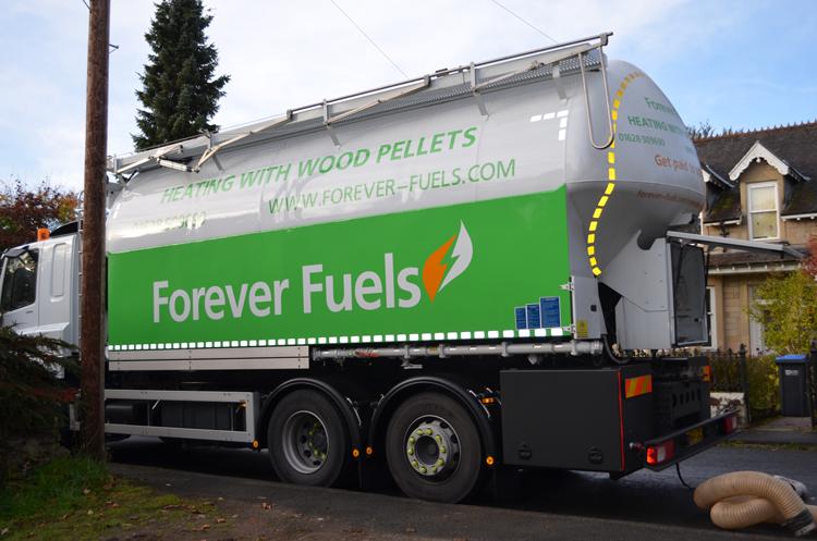 Wood Pellet Fuel truck