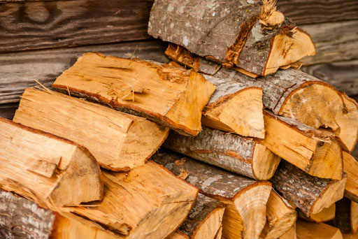 image of a log pile