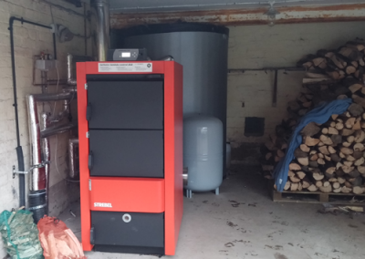 40kW Strebel log boiler