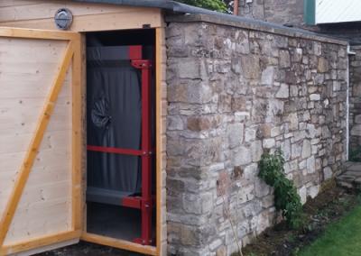 4 Tonne pellet store in shed