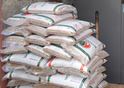 Wood pellets in 10kg bags