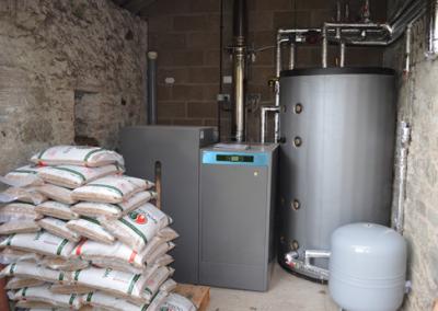 Domusa 43kW pellet heating system